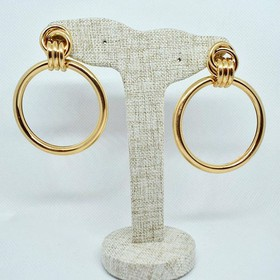 Aretes Knot Hoops