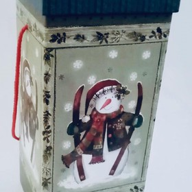 CHRISTMAS GIFT BOX - SNOW MAN (Square)