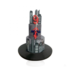 Sorprende con espectacular Spider-Man City cake