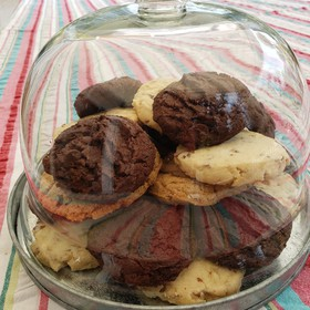 Galletas de avena con chispas de chocolate