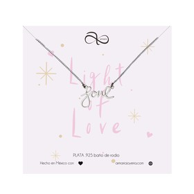 1020653 Collar Love Plateado