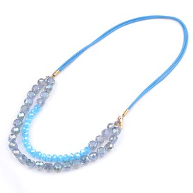 Collar azul doble tira XU063