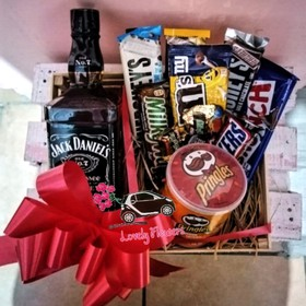 Huacal Whiskey Jack Daniels con Chocolates