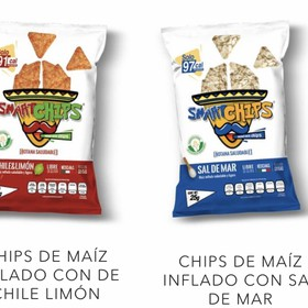 Smartchips Mix chile limon y sal de mar 20 pz