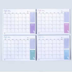 Planner mensual colores pastel