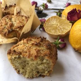 KETO MUFFINS LEMON POPPYSEED