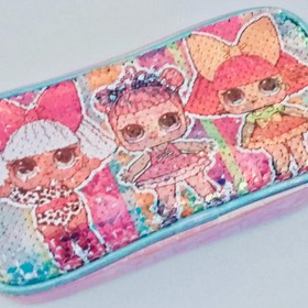 LOL SEQUIN PENCIL CASE