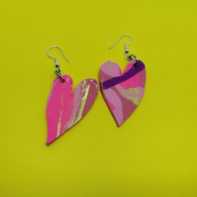 Aretes Crazy Heart pink
