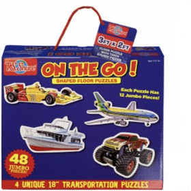 "On the Go! Shaped Floor Puzzles - (4 shaped puzzles) 11.6""x9.9""x2.8"""