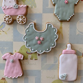 Galletas decoradas Baby Shower surtidas