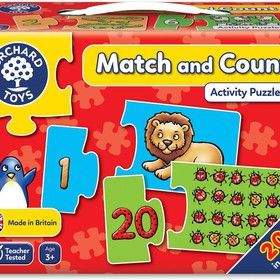 Match and count jigsaw game