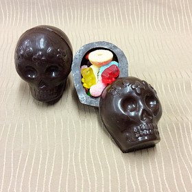 Calaverita de chocolate rellena