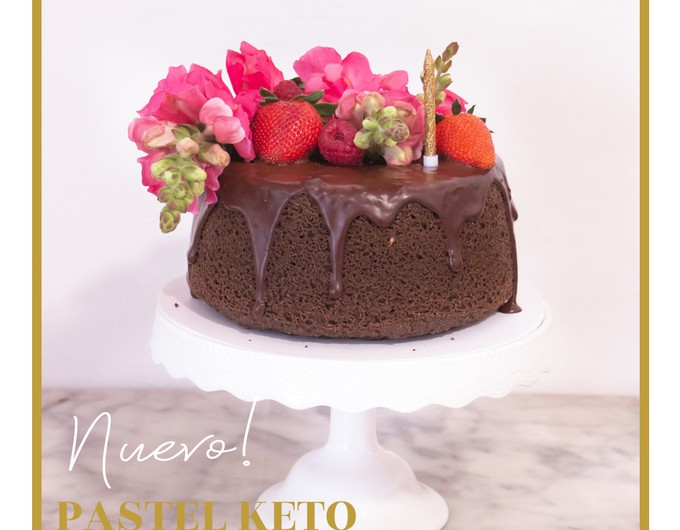 pastel de chocolate keto