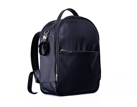 The black backpack