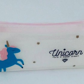 BLUE UNICORN PENCIL CASE
