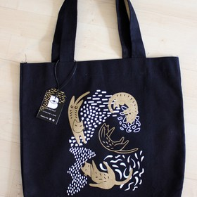 Tote bag Lazy Cats